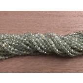 4mm facetslebne perler af prehnit