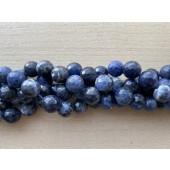 12mm facetslebet sodalit perler