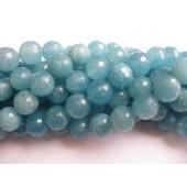 12mm blå svampe kvarts perler