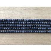 facetslebne rondeller af blå safir