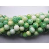 Swirl grøn jade perler