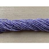 2mm facetslebet lilla kubisk zirkonia