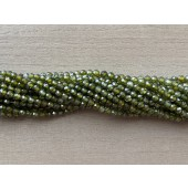 4mm facetslebne grønne kubisk zirkonia perler