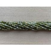 3mm facetslebne grønne kubisk zirkonia perler