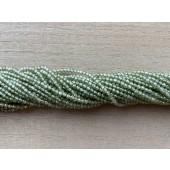 2mm facetslebne grønne kubisk zirkonia perler