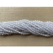 4mm facetslebne hvide kubisk zirkonia perler