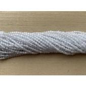 3mm facetslebne hvide kubisk zirkonia perler