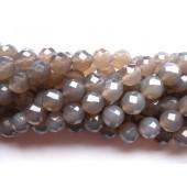 12mm facetslebet grå agat perler