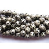 Dalmantiner jaspis, rund 12mm-20