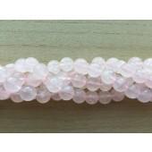 10mm facetslebne rosenkvarts perler