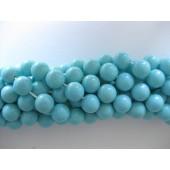 10mm turkisblå shell perler