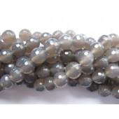grå agat perler