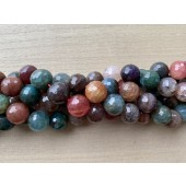 16mm turmalin farvet ild agat perler