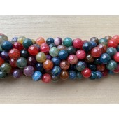 12mm turmalin farvet ild agat perler