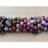 10mm turmalin farvet ild agat perler