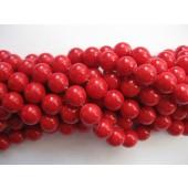 10mm røde perler