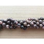 rhodonit perler