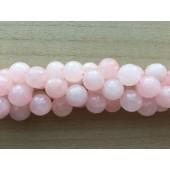 Facetslebet rosenkvarts perler