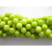 12mm lys lemon farvet jade perler