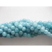 8mm blå perler