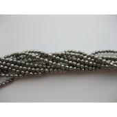 Pyrit, facetslebet rund 3mm-20