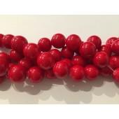 14mm røde stenperler