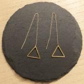 guld øreringe med trekanter