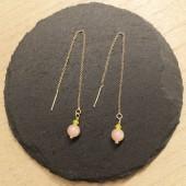 kæde øreringe med perler