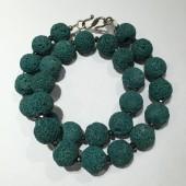 Halskæde, grøn lava-20