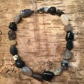 Unika halskæde, store mix sten-20