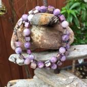 Halskæde, smukke lilla perler-20