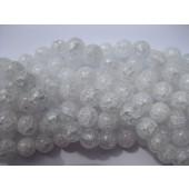 10mm perler af krakkeleret krystal