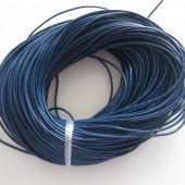 Rund læder 2mm blå-20