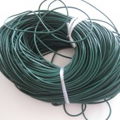 Rund læder 2mm grøn-20