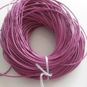 Rund læder 2mm pink-20