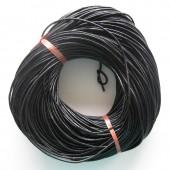 Rund læder 2mm sort-20