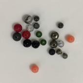 blandede små perler