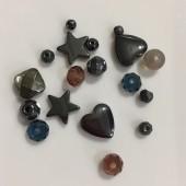 blandede sten perler