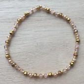 armbånd med miyuki guld perler