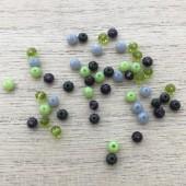 grønne mix perler til armbånd