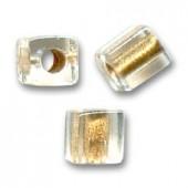 3mm miyuki cubes gold