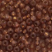 Miyuki Rocailles seed beads, 8/0 Rose Bronze Silver Lined Alabaster (641) 8g-20