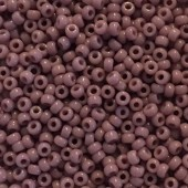 Miyuki Rocailles seed beads Duracoat, 11/0 Opaque Mauve (410)-20