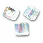 Miyuki cubes 3mm, crystal AB (SB3-250) 5g-20