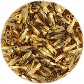 miyuki twist bugles 6mm 24kt guld