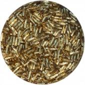 Miyuki twist bugles 6mm gold silver lined