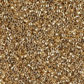 miyuki delicas hex cut light gold