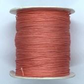 0,5mm nylon knyttesnor, laksefarvet 10m-20