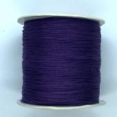 mørk lilla nylon knyttesnor 0,5mm