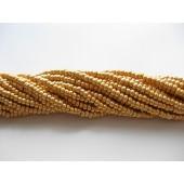 Preciosa seed beads #11 mørk metallic guld, 50cm streng-20